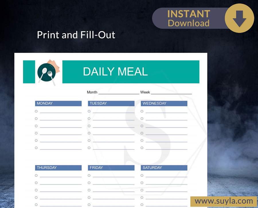 Daily Meal List